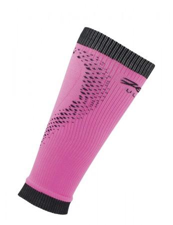 頂級運動型肌能壓縮腿套(桃紅/黑)