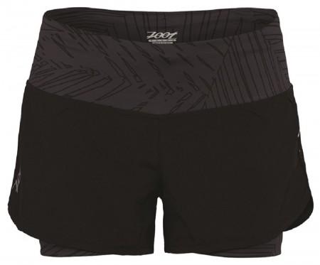 IceFil 2IN1 Shor頂級瑜珈式3吋二合一肌能跑褲(女)(時尚黑)