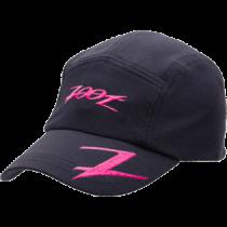 COOLMAX運動型跑帽(黑-桃紅)