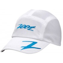 COOLMAX運動型跑帽(白-寶藍)