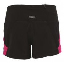 IceFil 3' 2IN1 Short頂級3吋冰涼感2合1肌能跑褲(女)(黑-桃紅)