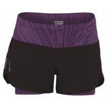IceFil 2IN1 Shor頂級瑜珈式3吋二合一肌能跑褲(女)(薰衣紫)