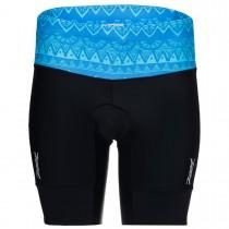 PERFORMANCE 專業級8吋肌能鐵人褲(女) - 圖紋藍