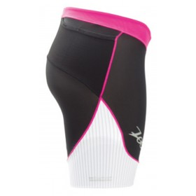 頂級碳纖6吋鐵人褲(女)(黑-白-桃紅)