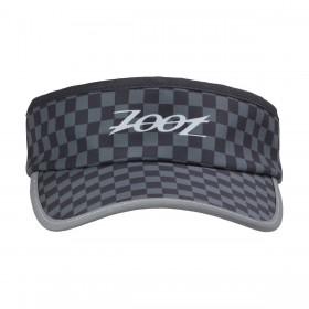 反光型彈性帶中空帽(格紋黑)
