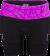 專業級6吋肌能鐵人褲(女)(黑-桃紅)